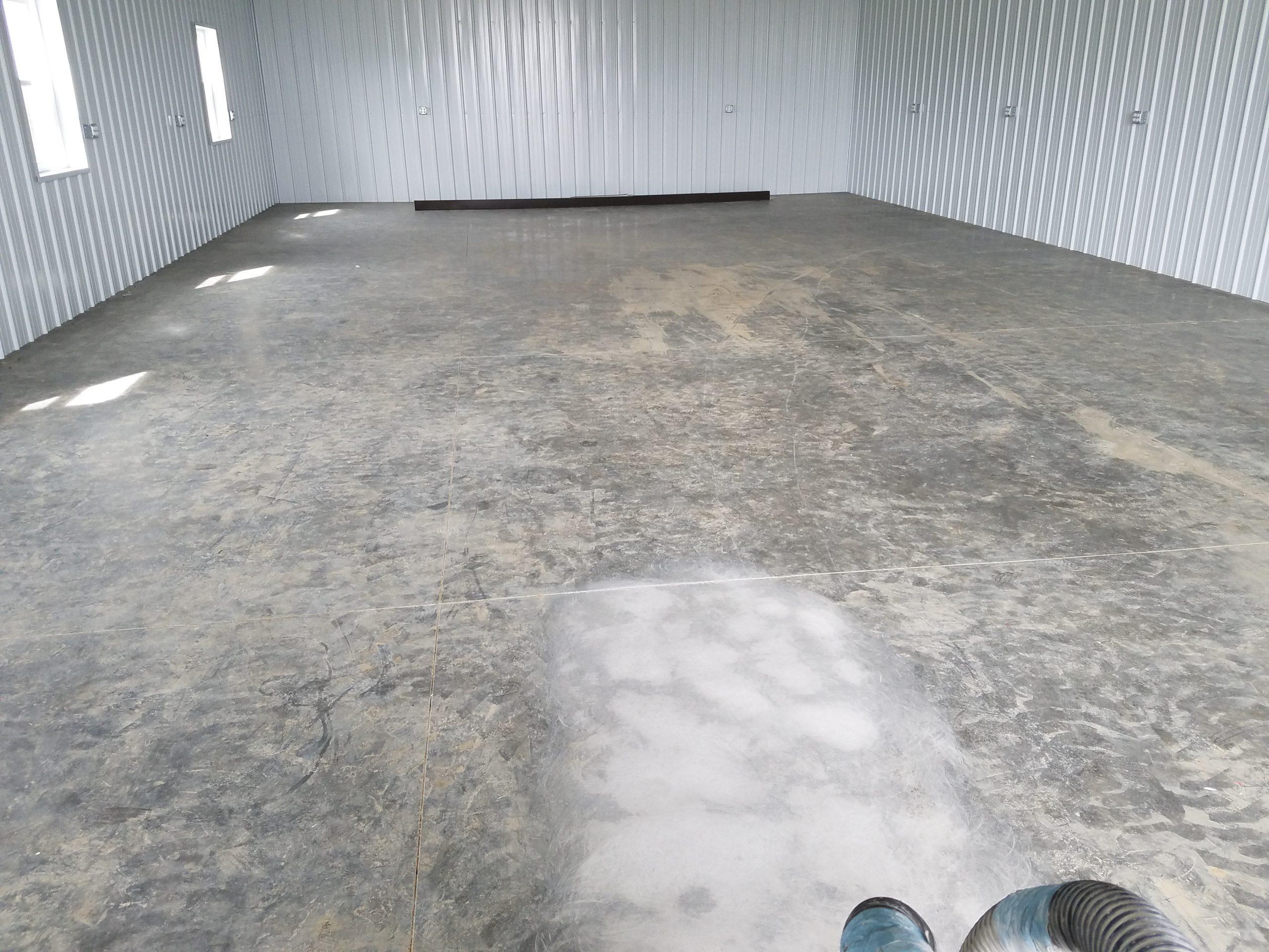auto shop concrete floor epoxy